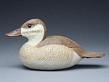 Decorative ruddy duck hen, Cigar Daisey, Chincoteague, Virginia.