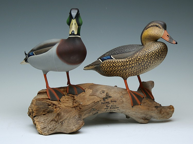 Pair of full size mallards, Paul Nock, Salisbury, Maryland