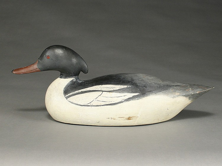 American merganser drake, Mason Decoy Factory, Detroit, Michigan.