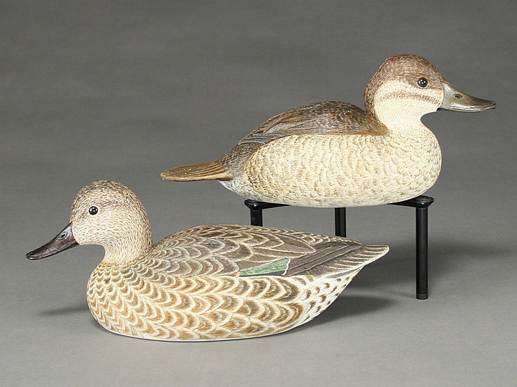 Two decorative decoys, Cigar Daisey, Chincoteague, Virginia.