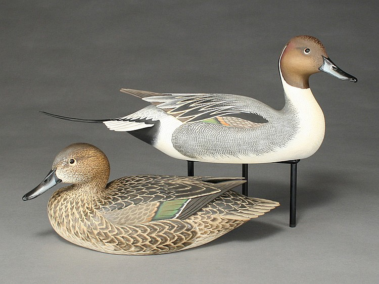 Exceptional pair of pintails, Oliver Lawson, Crisfield, Maryland.