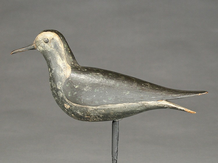 Exceptional hollow carved golden plover, Thomas Wilson, Ipswich, Massachusetts, last quarter 19th century.