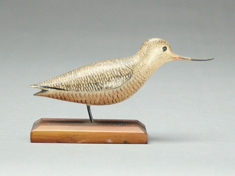 Fine miniature godwit, George Boyd,  Seabrook, New Hampshire.
