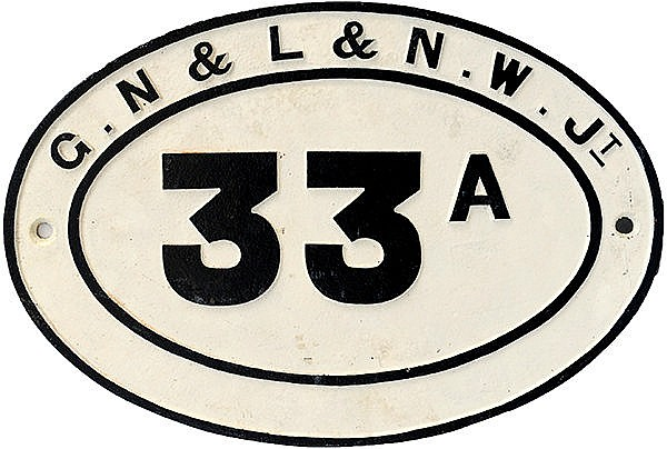 G.N & L & N.W. Jt C/I Bridgeplate No 33A. Normal,