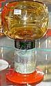 """Franck, Kaj for Nuutaj""""rvi-Notsjo, pokalglas, brunmelerad cuppa pa rodorange  fot, sign, h 16 cm"""