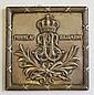 Plakett, silver, utdelad som minne av Drottning