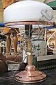 Bordslampa, koppar, sekelskiftet 1900, sk