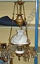 Takfotogenlampa med prismor, bronserad metall,