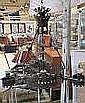 Taklampa, smide, sekelskiftet 1900, 3 ljusarmar, h