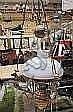 Takfotogenlampa, mässing, sekelskiftet 1900, dekor