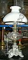Bordsfotogenlampa, metall och glas, sekelskiftet