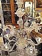 Taklampa, glas, venetiansk, 1900-talets 1 hälft, h
