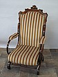 WALNUT FRAMED PLATFORM ROCKER