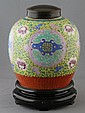 CHINESE FAMILLE ROSE LIDDED JAR, 18th/19th CENTURY