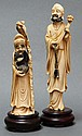 CHINESE CARVED IVORY FIGURES (2)