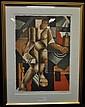 Axel Olson, färglitografi 7/40 52x38 cm