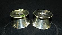 2 piece Sterling silver weighted base candlestick holders, COND VG, minor dents, 3