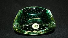 Murano art glass dish, COND VG, 2 1/2 x 5 1/4