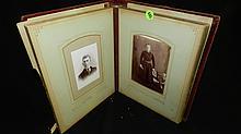Civil war era photo album, with photos, book as seen