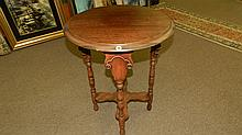 Nice carved lamp table, SSR = Special Shipping Required