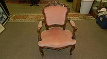 French style carved parlor chair, SSR