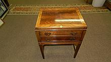 Lovely burlwood 2 drawer chest, SSR