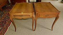 2 piece French style lamp tables with drawers, SSR