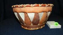 vintage Native American handmade Alaskan bark basket, from Kobuk river region, cond