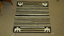 Nice, Vintage, authentic, Native American hand woven Navajo rug, with eagle design
