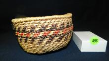 original hand woven Native American basket, by weaver Jane Honga, Hualapai Peach Springs AZ, cond VG