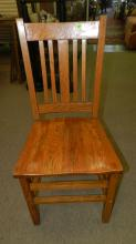 Antique American oak Arts & Crafts side chair, special shipping required