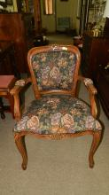 fancy carved French style parlor arm chair, special shipping req