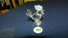 Authentic Austrian Swarovski crystal Rooster, no box, COND VG
