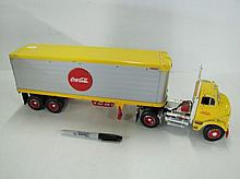 (2)Ertl Truck Tractor Trailer With Coca Cola Advertising. As Seen. Model of Vintage Equipment.