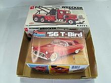 2 Pc Plastic Car Models In Box. Unassembled. Boxes Are Worn.