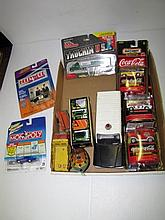 Box Lot Assorted Cars. Some Vintage, Some In Package.
