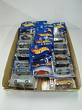 Box Lot Assorted Hot Wheels Cars In Packages. Packages May Be Dusty.