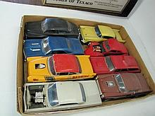 Box Lot Assorted Plastic Car Models. As Seen.