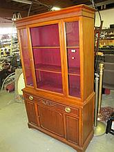 (2)Stanley Mahogany China Hutch. As Seen. Local Pick Up.
