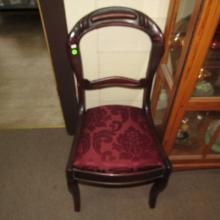 Antique carved side chair, special shipping req