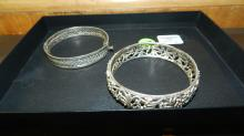 Two very fine vintage Sterling silver bracelets