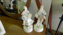 2 piece bisque figurine man and woman