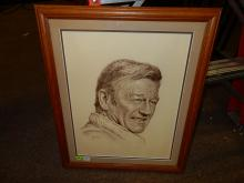 69) Signed artist proof litho of John Wayne