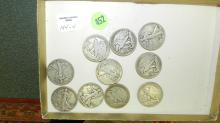 Nice Collection of US Walking Liberty half dollars, various dates & conditions. Guaranteed, All coins found in private estate, unsearched dates!