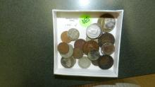 Collection of foreign coins, silver?
