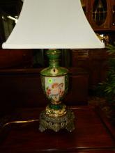Vintage Capodimonte porcelain figural table lamp