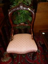 Antique carved victorian parlor chair. Special shipping required