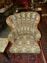 2) Lovely recovered fire side chair, special shipping required