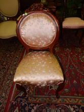 Vintage carved balloon parlor chair, special shipping required