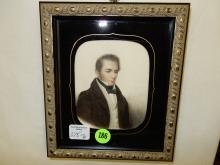6) Nice antique framed Watercolor? of Stately man